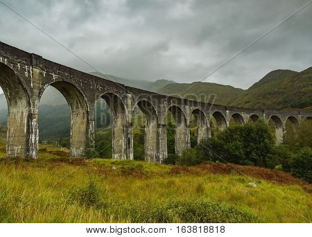 Glenfinnan Viaduct In Scottish Highlands