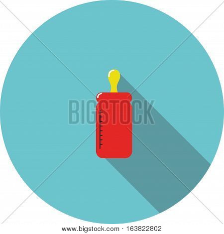 vector children icon Red bottle for feeding