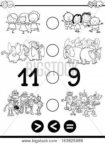 Greater Less Or Equal For Coloring