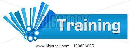 Training text written over blue abstract background.