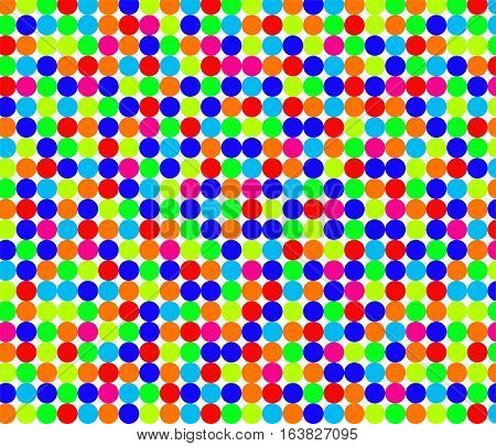 Seamless pattern with little bright circles on white background