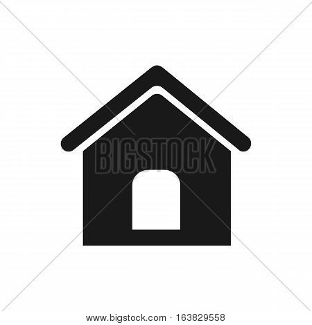 Home icon Vector. Flat icon Home. Flat vector illustration for web banner web and mobile. Vector Home icon graphic. Vector icon isolated on white background. Home vector icon in black.