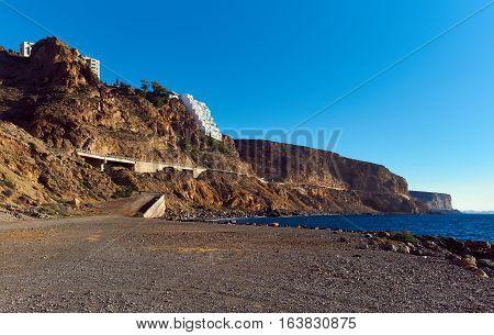 Rocky coastline of Almeria in Southern Spain