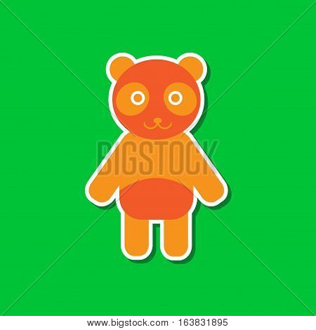 paper sticker on stylish background of Panda bear