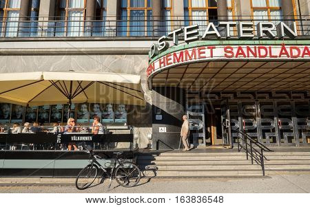 GOTHENBURG - SEPTEMBER 4, 2014: Gothenburg city theater at Gotaplatsen in Gothenburg. This theater is one of the major stages in Sweden.