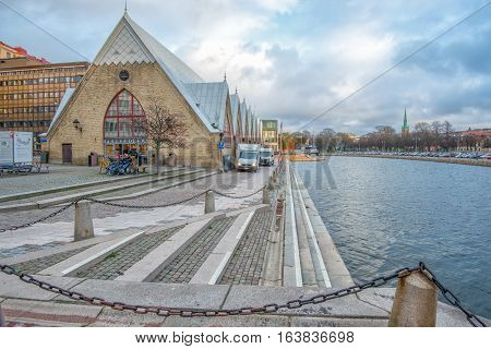 GOTHENBURG - NOVEMBER 16, 2013: Feskekorka or