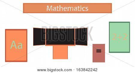 assembly flat icons education school notebooks organizer