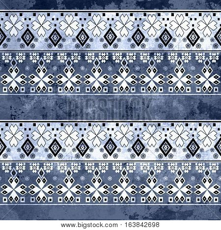 Ethnic boho grunge old pattern. Tribal art print. Colorful vintage background