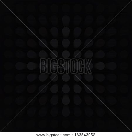 Volume abstract black background, many pillar, cylinders, 3d vector dark wallpaper