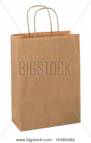 Einkaufstasche aus braun Recycling-Papier hergestellt. Fügen Sie Ihr eigenes Design oder Logo.