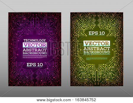 Abstract Technology Brochure Vector  Photo  Bigstock