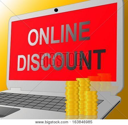 Online Discount Shows Web Reductions 3D Illustration
