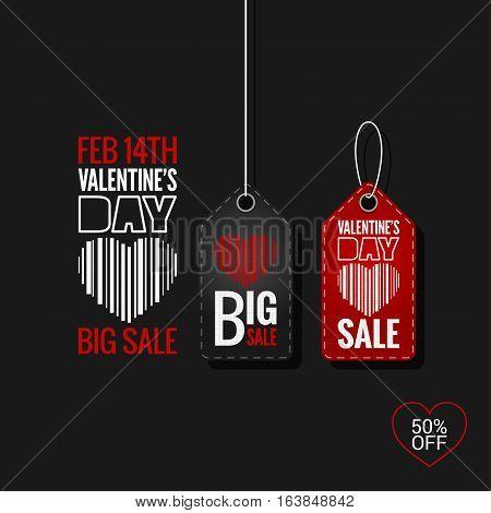 Valentines Day Set of Sale Tags logo design Background. 10 eps