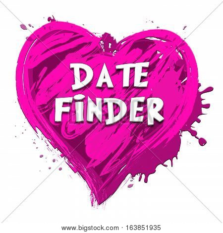 Date Finder Indicating Search For Love 3D Illustration