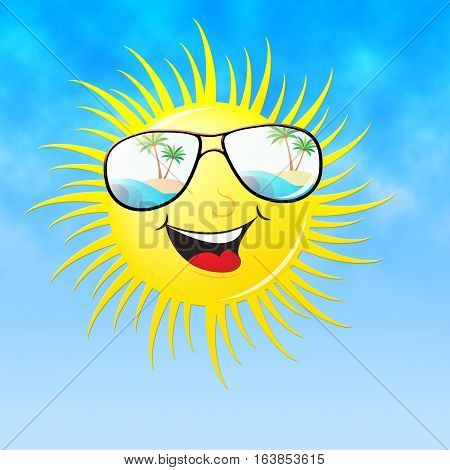 Summer Sun Smiling Means Heat And Warmth