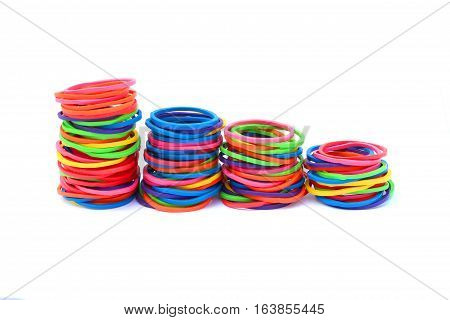 close up Elastic on isolated white background