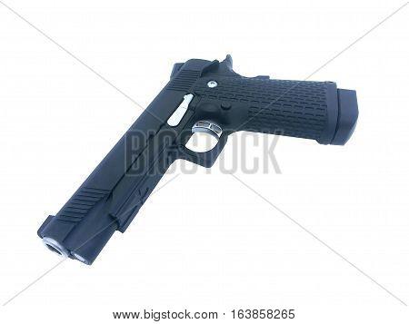 single automatic Gun on isolated white background