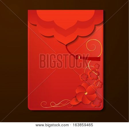 Red Envelope with free space Chinese Vector
