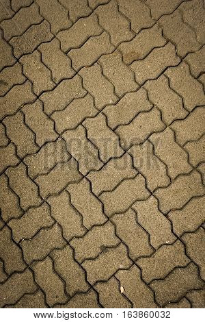 Wavy rectangle pavement texture photo taken in Semarang Indonesia java