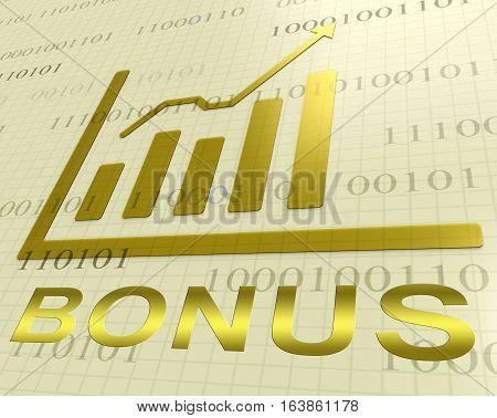 Bonus Graph Increasing Shows Extra Reward 3D Rendering