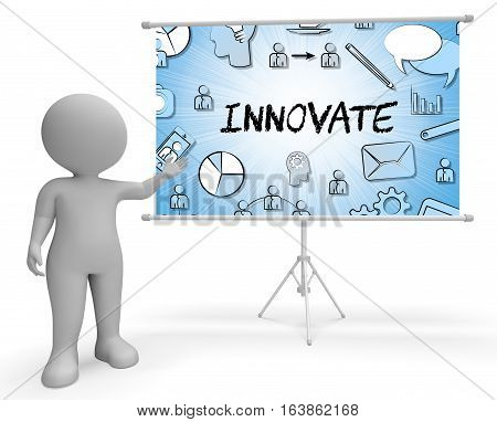 Innovate Icons Means Innovating Creative 3D Illustration
