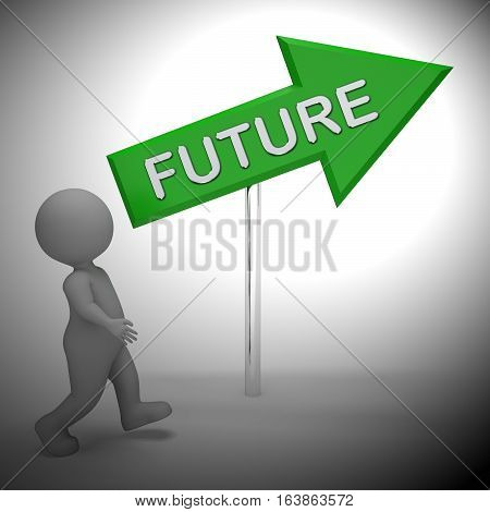 Future Sign Shows Forecasting Vision 3D Rendering