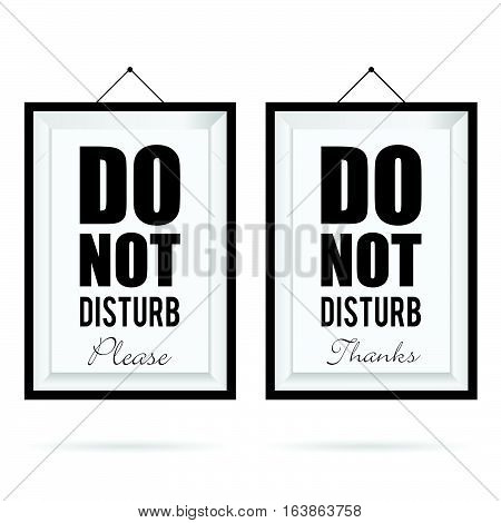 Do Not Disturb In Frame Design Illustration In Colorful