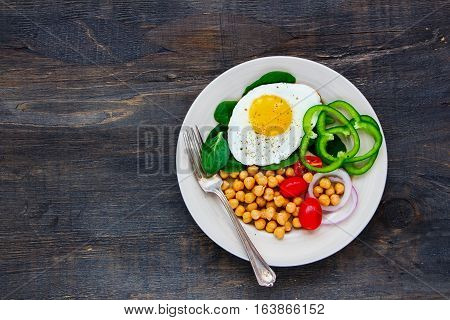 Plate With Fried Egg