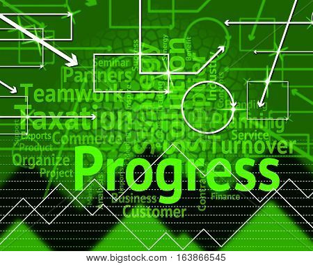 Progress Word Means Advance Advancement And Forward