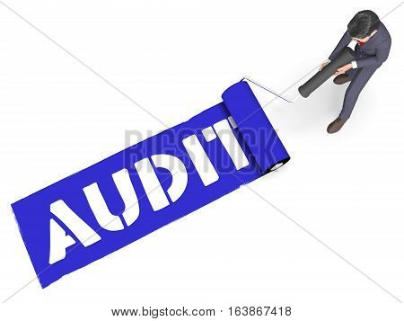 Audit Paint Shows Financial Auditing 3D Rendering