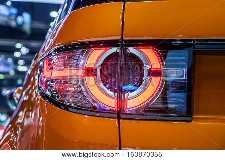 The Closeup Back Red Tail light car