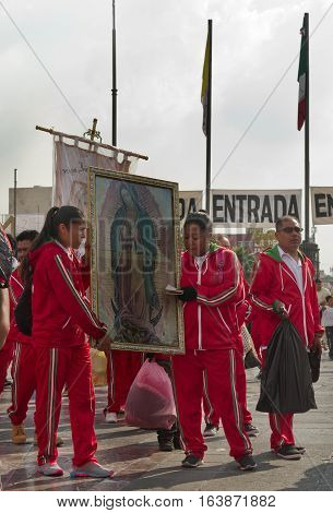Festival Of The Virgin Of Guadalupe In Mexico City