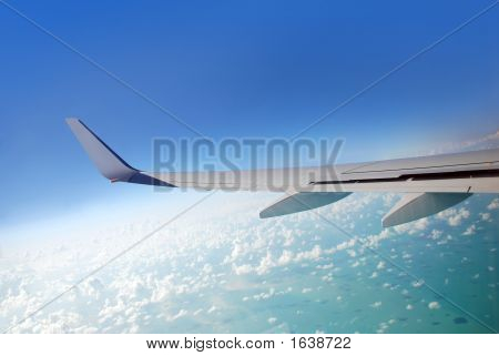 Plane Wing View.