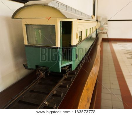 classic old train at the museum photo taken in Semarang Indonesia java