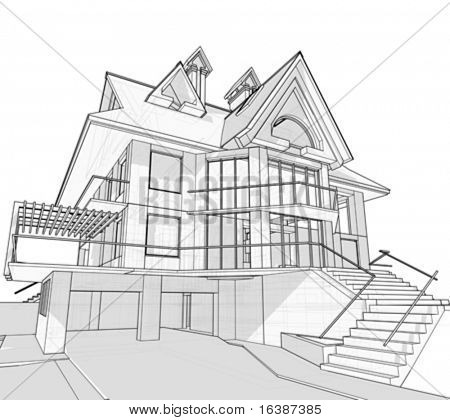 casa: disegno tecnico vettoriale