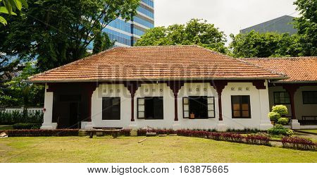 a little building at Lawang Sewu area photo taken in Semarang Indonesia java
