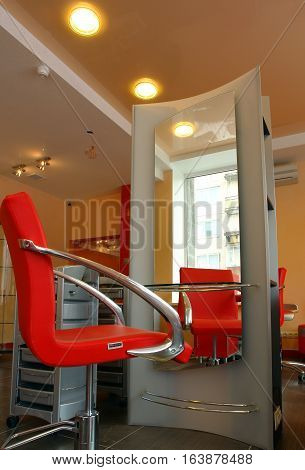 Interior Spas and lounges with seating and equipment