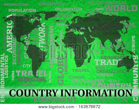 Country Information Shows Countries Facts Or Statistics