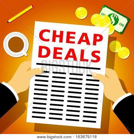 Cheap Deals Indicates Promotional Closeout 3D Illustration