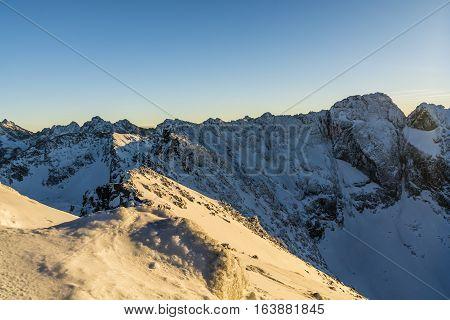 Ridge In Winter Colors.