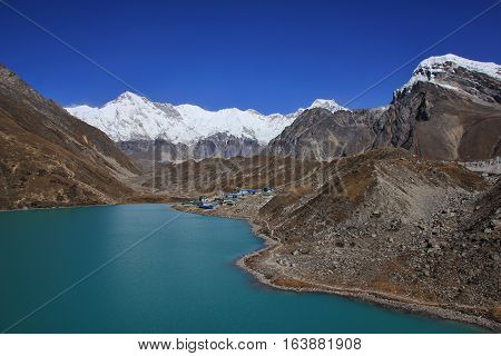 Unique landscape in the Gokyo valley Everest National Park.