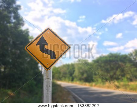 Beware steel sign on the road ,Beware steel sign on the white background