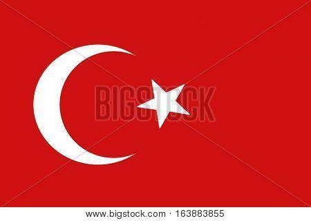 Turkey flag ,3D Turkey national flag illustration symbol.