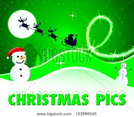 Christmas Pics Shows Xmas Images 3D Illustration