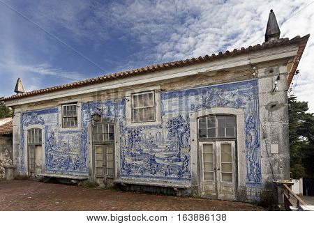 CAXIAS, PORTUGAL - October 26, 2016: Ruins of the 18th century Royal Palace of Caxias Portugal