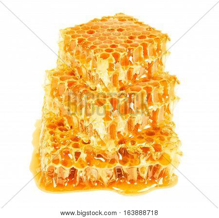 honeycombs isoated isolated on a white background
