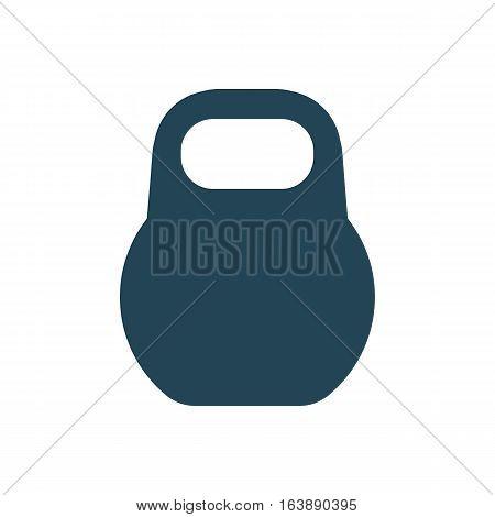 Icon Weight vector illustration. Kettlebell sport. Dark outline on a white background.