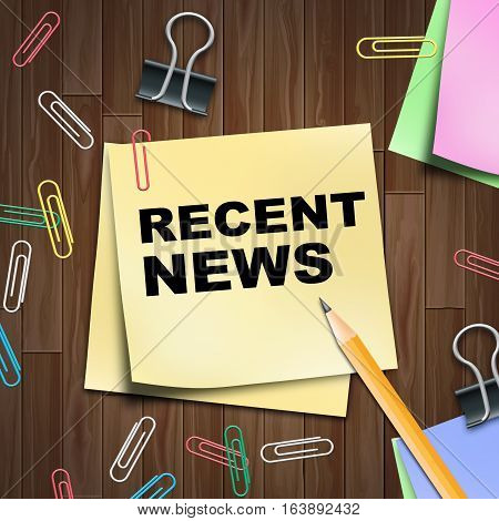 Recent News Shows Latest Newspapers 3D Illustration