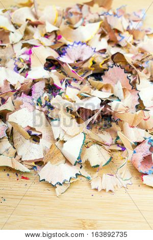 crayons sharpening shavings - texture for background