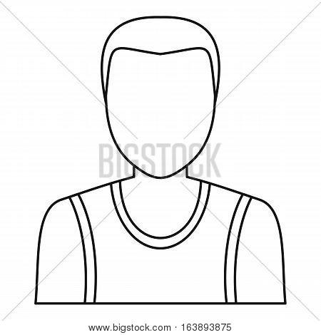 Male avatar profile picture icon. Outline illustration of male avatar profile picture vector icon for web